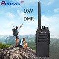 10 w dmr digital uhf400-470mhz walkie talkie retevis rt81 32ch 2 zona ip67 a prueba de agua digital/analógico doble modos de dos forma de radio hf