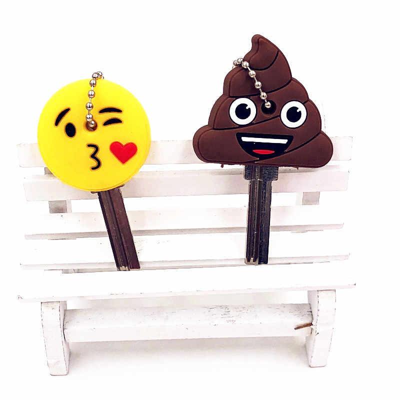2 шт. милый мультфильм улыбка стул брелки Силикона Ключ Крышка шапки брелок держатель детский праздничный костюм подарок для женщины