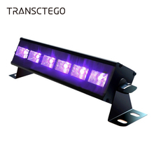 купить Stage Light 6 LED Violet Lights Bar Purple Laser Lighting Projection Christmas Indoor Stage Effect Lamps Club Party Stage Light дешево