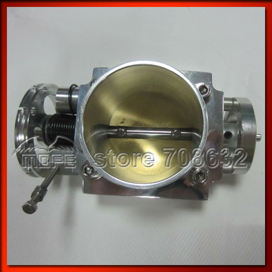 ФОТО Aluminum VQ36TPS 70mm Universal Throttle Body Silver