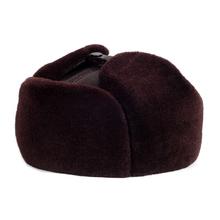 RY918 TOP 2017 Winter Genuine Leather Black Bomber Hat Male Faxu Fur Mex Inside Ear Head