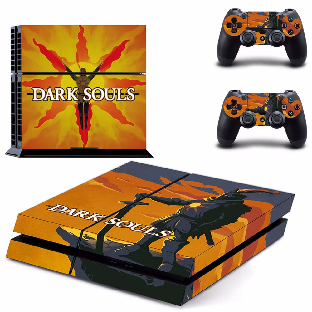 Game Dark Souls PS4 Skin Sticker Decal For Sony PlayStation 4 Console and 2 Controllers PS4 Skins Stickers Vinyl
