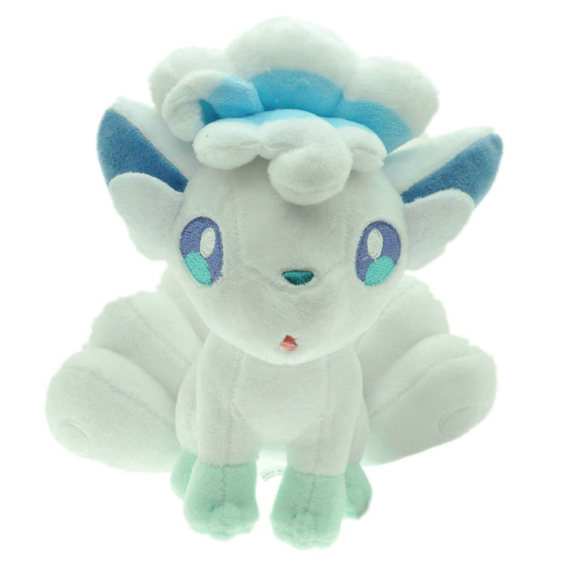 20cm XY Pocket Doll Eevee Alola Vulpix Ice System Plush Toy Stuffed Dolls Plush Doll Gifts