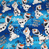 100X140cm Snowman Snow Baby Blue Cotton Fabric For Baby Boy Bedding Sets Clothes Cushion Cover Curtain