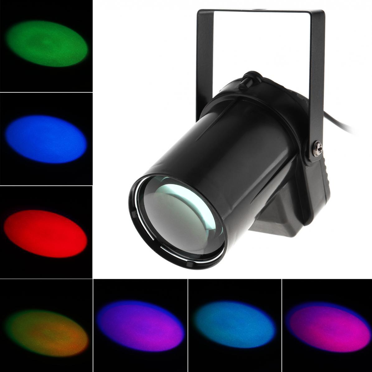 Sale 3W LED RGB Beam Pinspot Light Full Color Spotlight Stage Lighting Effect For DJ Disco / KTV / Bar