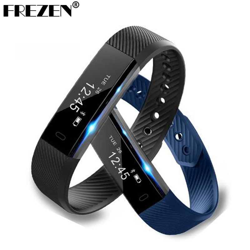 FREZEN ID115 Smart Wristband Fitness Tracker Step Counter Activity Monitor Alarm Clock Vibration Bracelet For iphone