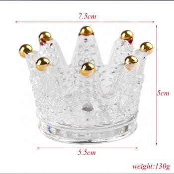 Großhandel Kreative Glas Krone Leuchter Geprägt Ring Schönheit Ei Tablett Setzen Kosmetische Ei Regal Schmuck Lagerung Box