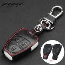 Jingyuqin uzaktan deri anahtar kutusu kapağı Mercedes Benz A C r E r E r E r E r E r E r E r E r E r E ML CLK SLK CLS sınıfı anahtarlık koruyucu anahtarlık tutucu çanta