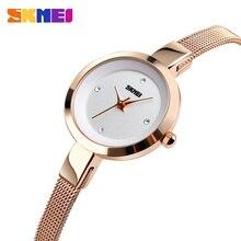 купить SKMEI Luxury Quartz Ladies Watch Thin Strap Fashion Women Watches Casual Stainless Steel Female Wristwatch Relogio Feminino 1390 по цене 1106.58 рублей