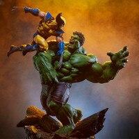 Аниме супергерой X men Халк Vs Росомаха Статуя Фигурка 1/6 масштаб окрашенная фигурка сцена V ПВХ игрушки Дети Brinquedos L3414