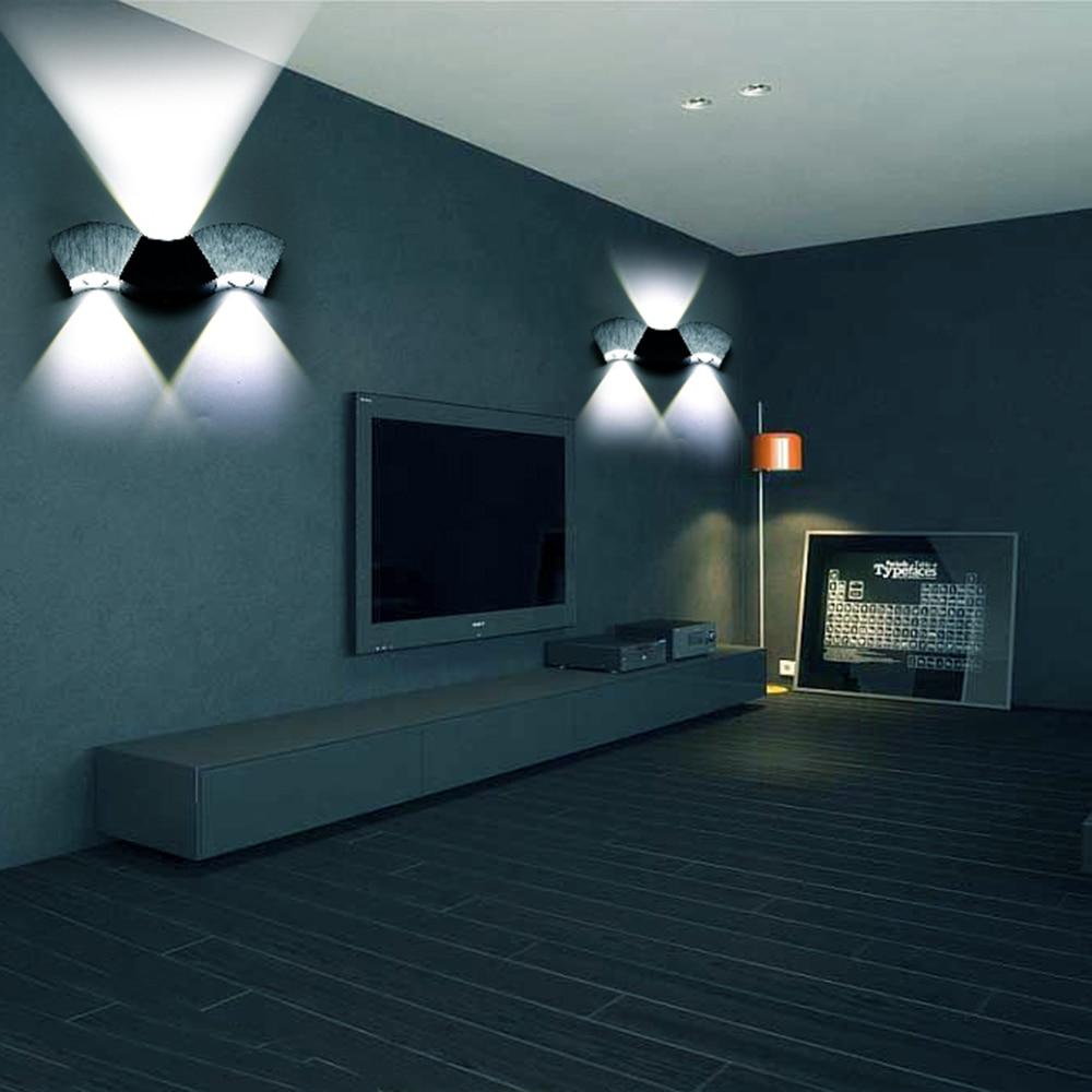 Apliques de aluminio modernos de alta potencia 3W / 9W Led de interior y exterior lámpara de pared para el pasillo sala de estar baño baño DA
