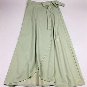 Image 5 - Saias das mulheres faldas M 6XL mais tamanho maxi saia faldas mujer moda 2018 novas saias irregulares das senhoras do escritório usam saias