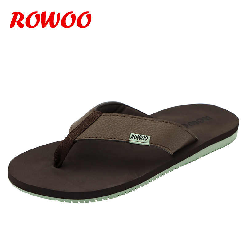 2547e3a9496a3 Mens Flip Flops For Men Leather Slippers Flat Home Shoes Sandals Slipper  Male Sandalias Mujer Sandals