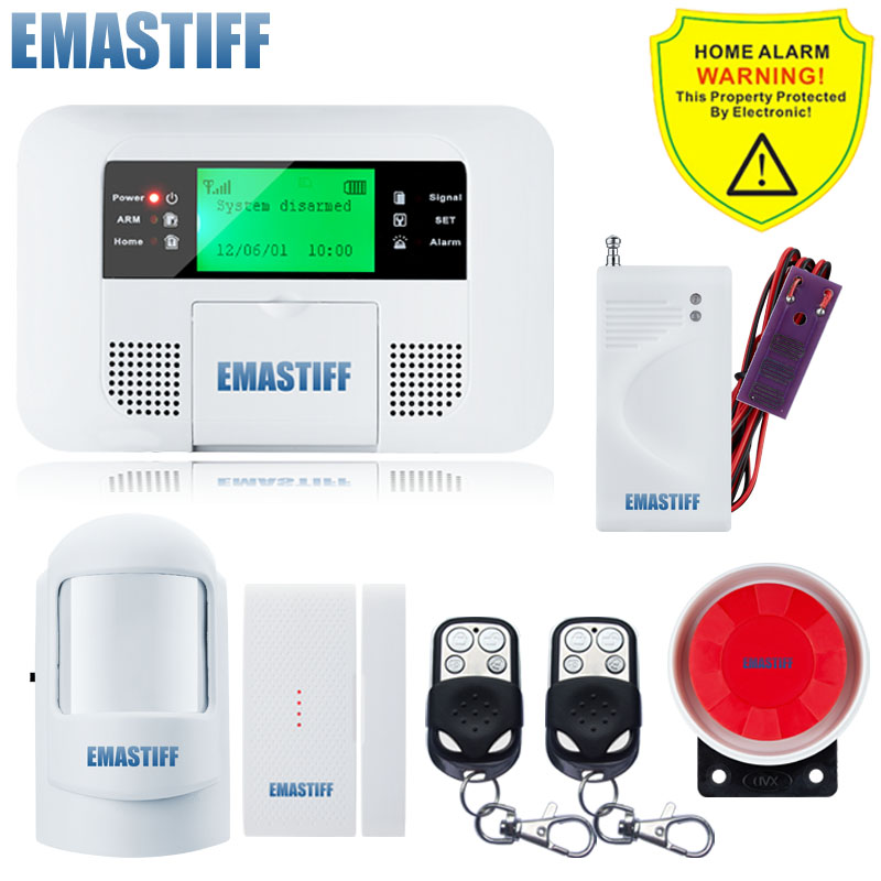 Spanish Russian Voice Wireless GSM SMS Home Water Leakage Security Burglar Alarm System LCD Display Auto Dialing Free Shipping 16 ports 3g sms modem bulk sms sending 3g modem pool sim5360 new module bulk sms sending device