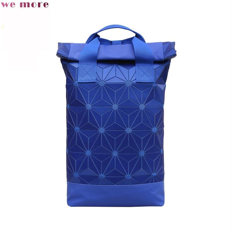 цена we more Women Backpack Geometric Plaid Sequin Female Backpacks For Teenage Boys and Girls Bagpack Holographic Backpack в интернет-магазинах