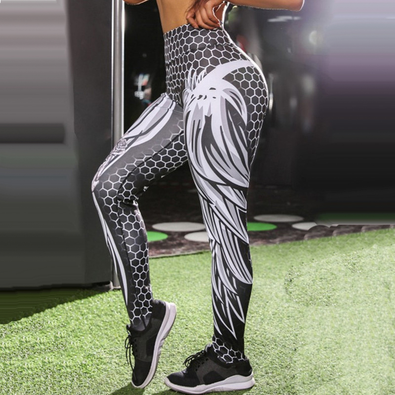12 Styles Fitness Leggings Women Solid Sunflower Snake Colorful Printed Sport Gym Hip Push Sexy Lady Legging Plus Size Long Pant in Leggings from Women 39 s Clothing