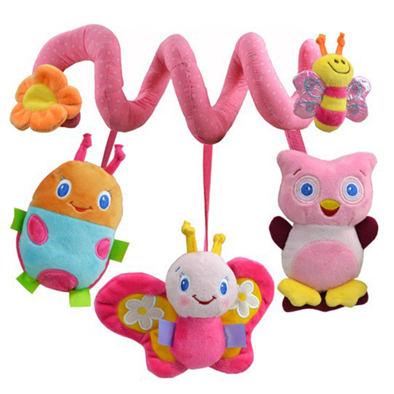Espeon Soft Infant Crib Bed Stroller Toy Spiral Baby Toys For Newborns Car Seat Educational Rattle Baby Towel Education Toys