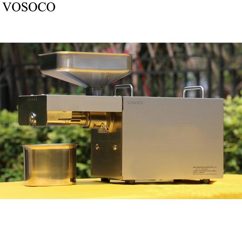 VOSOCO Oil presser peanut oil maker rapeseed olive Pistachio pecan small almond oil press machine oil mill 110V/220V 1500W utilization of palm oil mill wastes
