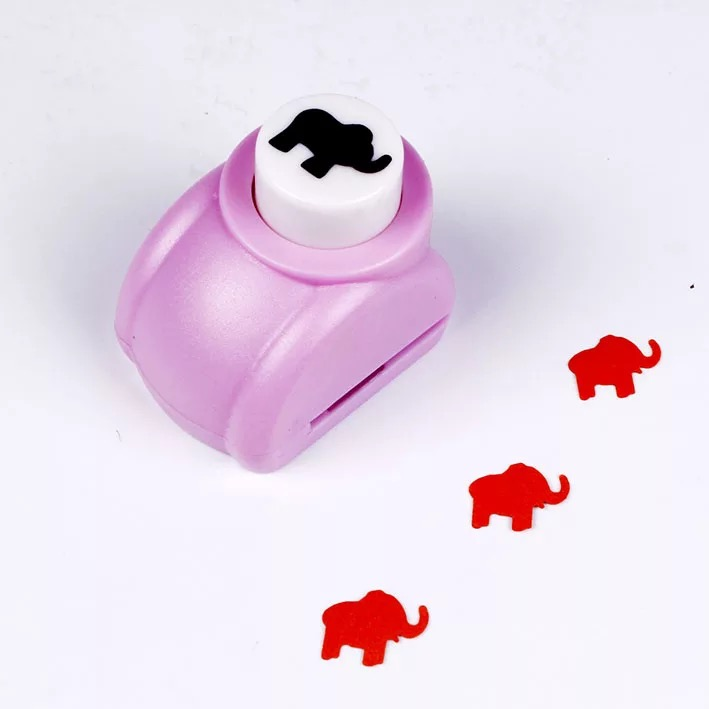 Free Shipping Paper Elephant Cutter 15mm 58 Shapes Craft Punch
