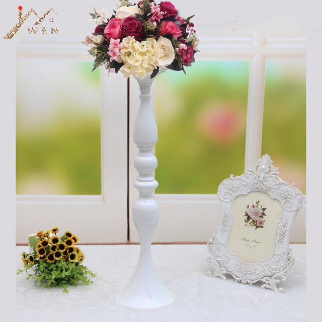 50cm 20 White Metal Candle Holders Stick Wedding Centerpiece Event Road Lead Flower