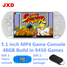 JXD new 5.1 inch 48GB 128bit Video Game Console Built-in 9450 Games for cps/neogeo/gba/gb/snes/nes/sega Console for Kids mp3 MP5 new jamma cbox mvs snk neogeo mvs 1b to db 15p snk joypad ss gamepad with av rgb output for neogeo 161 in 1