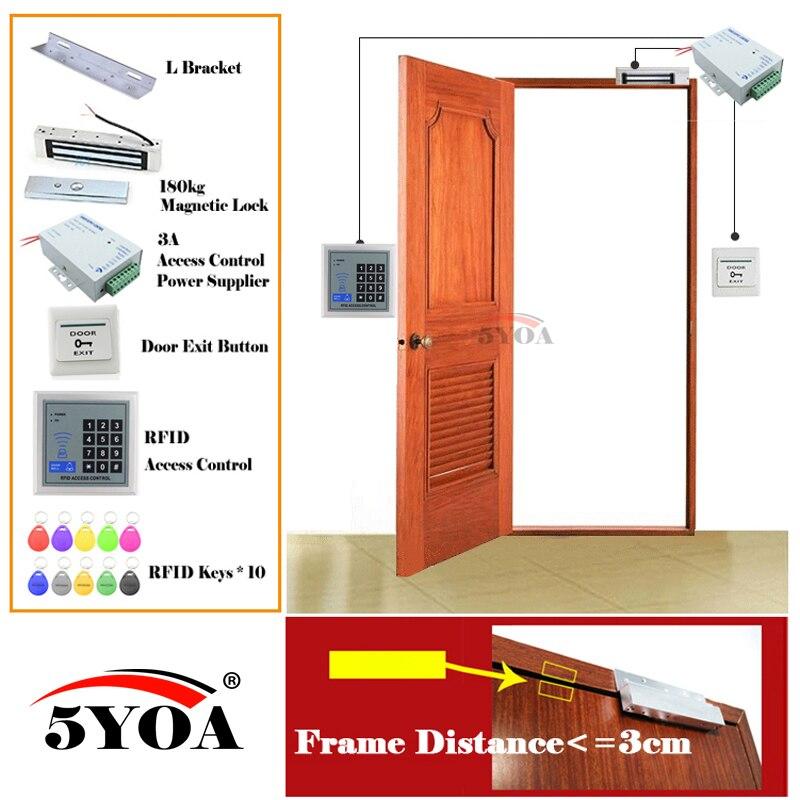 RFID Система контроля доступа Smart дверные замки безопасный комплект электронных ворот дома, в гараже цифровой набор Электрические магнитной