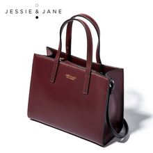 JESSIE&JANE Designer Brand Practical Mini Women Messenger Bags Leather Handbags Shoulder Bag Top-Handle Bags 1223