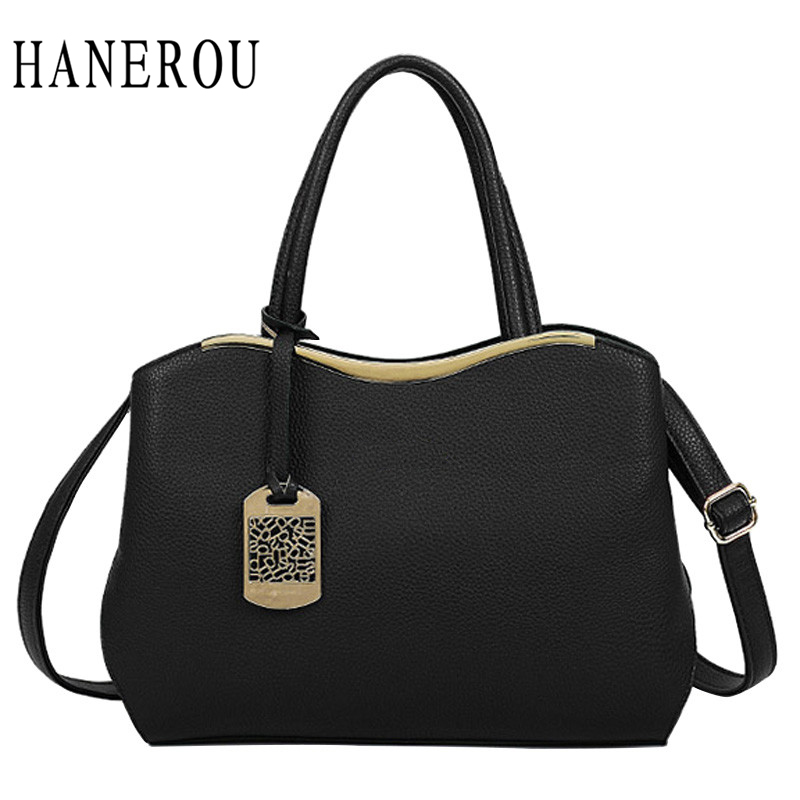 High Quality Pu Leather Handbag Women Bag 2018 New Fashion Tote Bag Designer Handbags Ladies Hand Bags Black Women Shoulder Bags classic black leather tote handbags embossed pu leather women bags shoulder handbags elegant