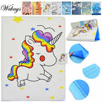 Wekays For Apple IPad 9.7 inch 2017 Cartoon Unicorn Leather Stand Case sFor Coque IPad 9.7 2017 A1822 A1823 Tablet Cover Cases