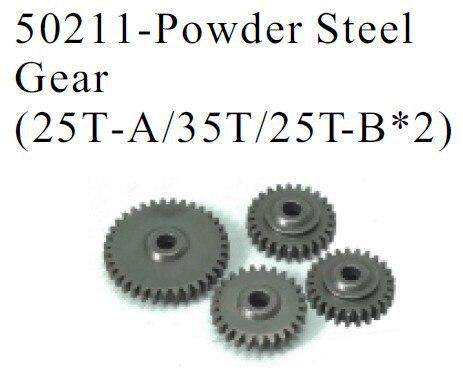 HSP pièces 50211 en option engrenage en acier en poudre (25T-A/35 T/25T-B * 2) 4 pcs pour 1/5 RC voitures gaz monstre camion 94050 SHELETON Baja