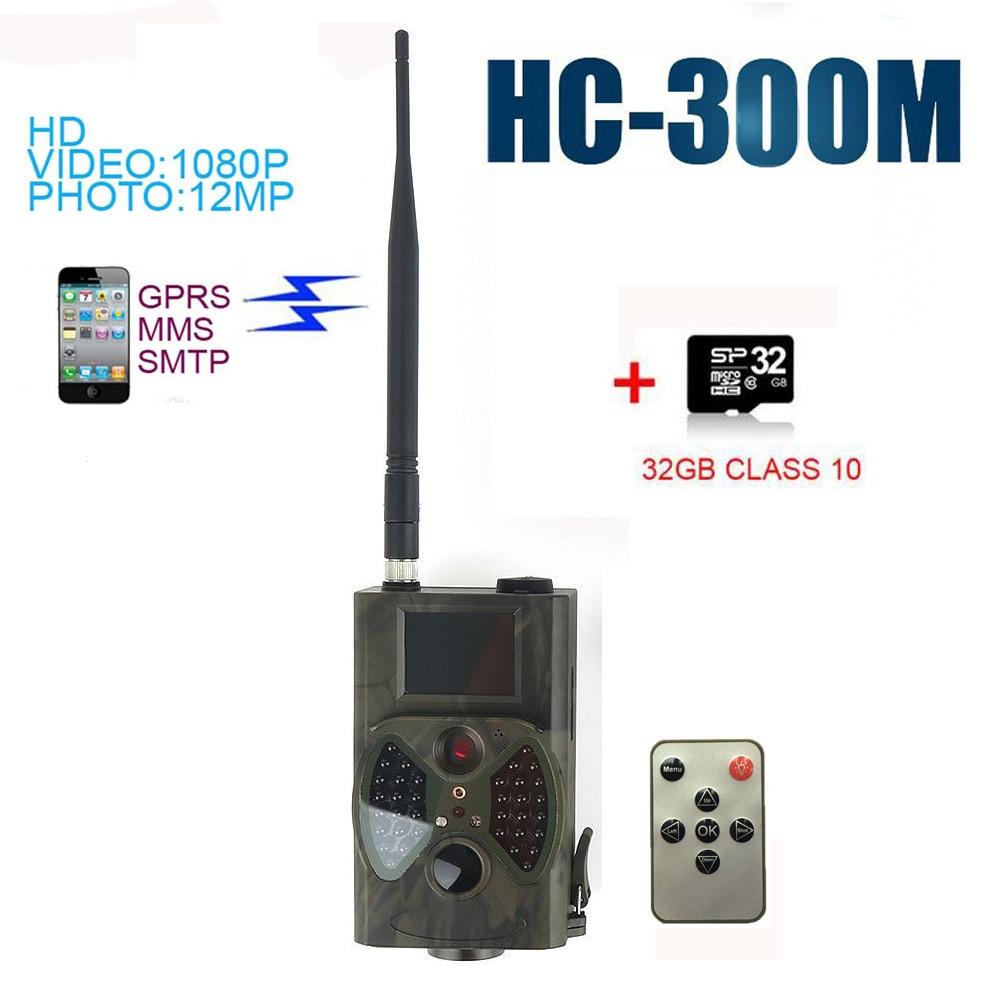 12MP Hunting Camera 32BG HC300M GPRS MMS GSM Wildlife Trail Camera 940NM Night Vision skatolly 940nm hunting camera s680m 12mp hd1080p 2 0 lcd trail camera with mms gprs smtp ftp gsm trail hunt game recorder