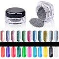 Galvanoplastia Espejo Mágico Polvo Colorido Láser Plata Glitter Polvo Del Polvo de Uñas de Arte de Uñas Decoraciones de Uñas Glitter