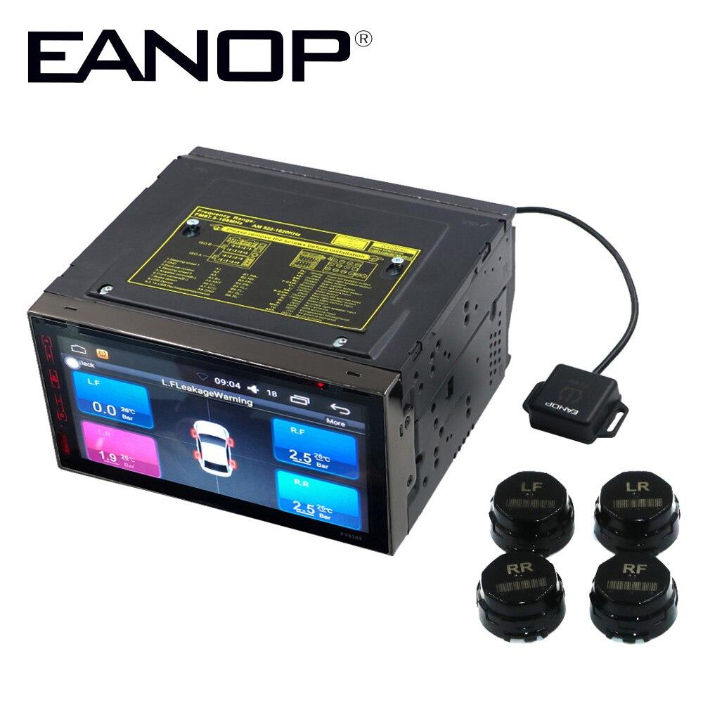 EANOP TPMS Android voiture DVD système de surveillance de la pression des pneus système d'alarme de sécurité des pneus de voiture capteurs internes de pression des pneus