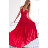 Sexy Women Multiway Wrap Convertible Boho Maxi Club Red Dress Bandage Long Dress Party Bridesmaids Robe Longue Femme