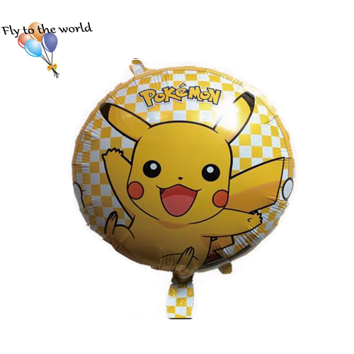 50pcs/lot globos pokemon Foil Balloons Inflatable toys Pikachu Helium Balloon kids toys happy Birthday balloons Party Supplies