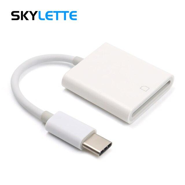 Tipo c leitor de cartão sd câmera kit compatível não precisa aplicativo usb c otg cabo de dados para xiaomi 6 galaxy s8 macbook pro