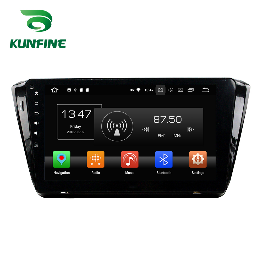 Octa Core 4GB RAM Android 8.0 Car DVD GPS Navigation Multimedia Player Car Stereo Deckless for SKODA Superb 2015 Radio