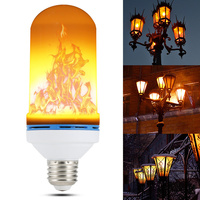 E26 E27 LED Flame Effect Fire Light Bulb Flickering Flame Lamp Simulated Party Christmas Decor AC85