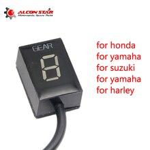 Alconstar-Ecu штекер крепление 6 скоростей шестерни дисплей индикатор 1-6 шестерни индикатор Подходит для Honda Для Kawasaki для Yamaha для Suzuki