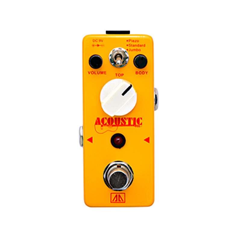 Acoustic Guitar Simulator Guitar Effect pedal AA Series Volume Body Top Control Electric Guitar Effects True bypass aroma ac stage acoustic guitar simulator effect pedal aas 3 high sensitive durable top knob volume knob true bypass metal shell