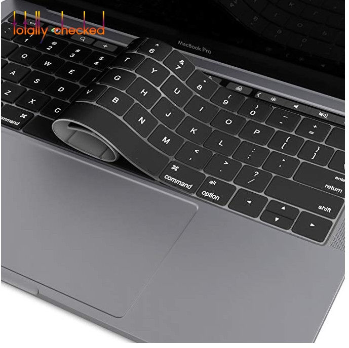 "Keyboard Cover for NEWEST MacBook Pro with Touch Bar 13"" or 15"" (A1989 A1990 & A1706 A1707) Release 2018 2017 2016 Silicone Skin(China)"