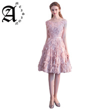 2019 New sweet A-line Short Evening Party Dresses Formal Womens Special Slim Ball Gown Prom Gowns