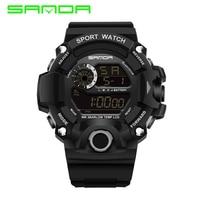 NEW Sanda Brand Watch Men Fashion LED Digital Military Sport Watch Waterproof Wrist watches Clock Reloj Hombre Bayan Kol Saati