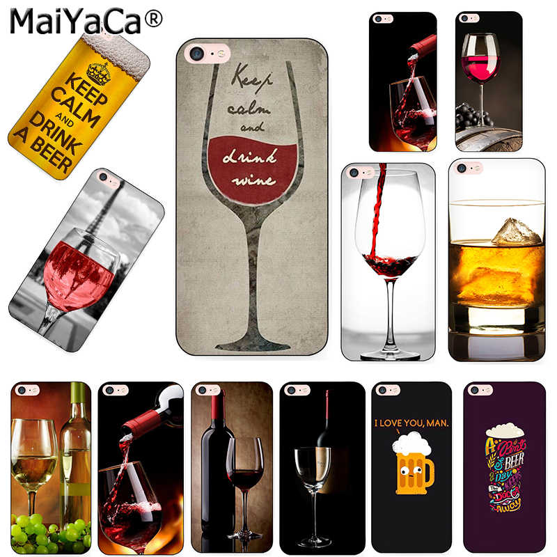 MaiYaCa keep calm and drink a bear wine Pattern tpu Soft Phone Cover Case for iPhone 8 7 6 6S Plus X 10 5 5S SE 11pro max Coque