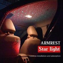 1 компл. автомобиля Подсветка салона комплект автомобилей лазерный подлокотник коробка лампа Starlight интерьера атмосферу свет для audi BMW Ford
