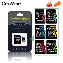 CeaMere Memory Card 256GB 128GB 64GB U3 UHS 3 32GB Micro sd card Class10 UHS 1 flash card Memory Microsd TF/SD Cards for Tablet