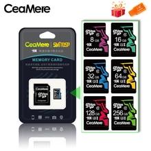CeaMere hafıza kartı 256GB 128GB 64GB U3 UHS 3 32GB Micro sd kart Class10 UHS 1 flash kart bellek Microsd TF/SD kartları için Tablet