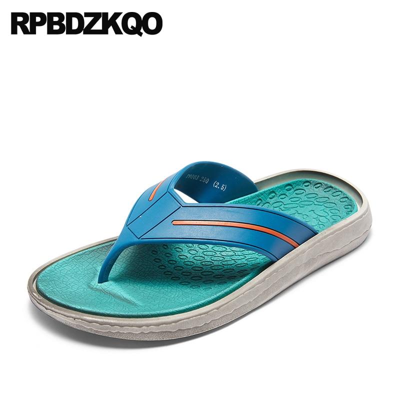 2018 Praia Livre Sandálias Sapatos Chinelo Dedo Escorregar Suave azul De verde branco Em Casual Verde Agua Dos Preto Chinelos Moda Homens Ar Plano Ao Verão Desenhista Slides ZnfEwfrYq