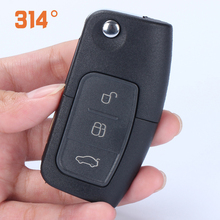 купить Three-button Black Car Key Remote Control Folding Key Replacement Shell Suit For Ford Focus Carnival Mondeo Car Key Shell дешево