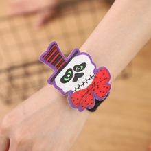 New Slap Bracelets Hand Ring Halloween Birthday Party Supplies For Kids Adults Wrist Decoration